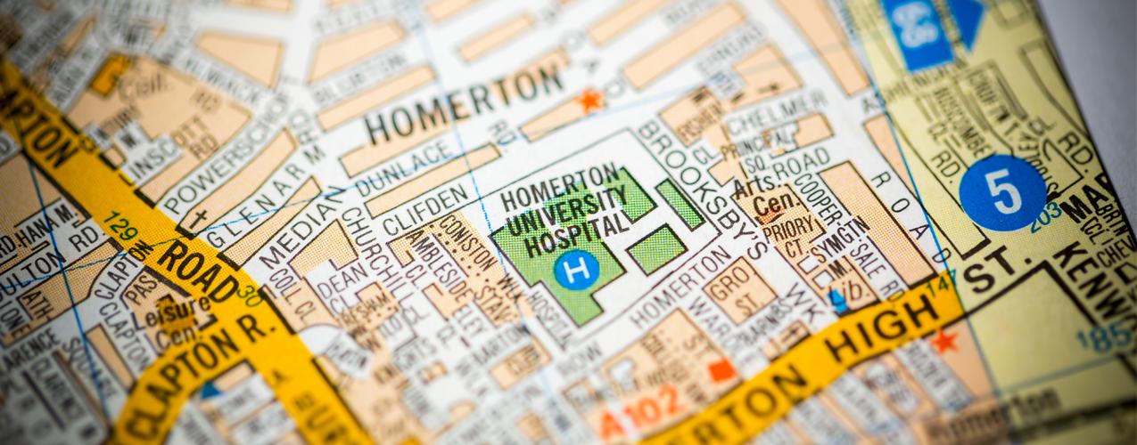 Homerton University Hospital on map