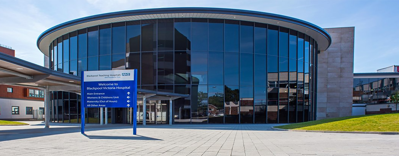Blackpool NHS hospital front entrance