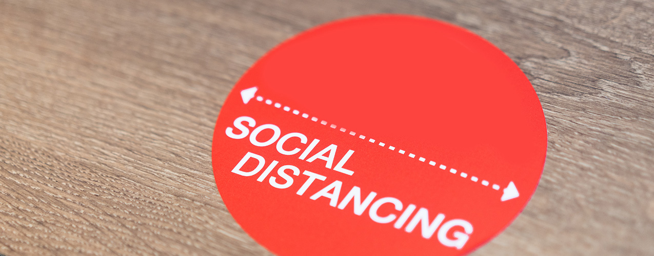 Social distancing label