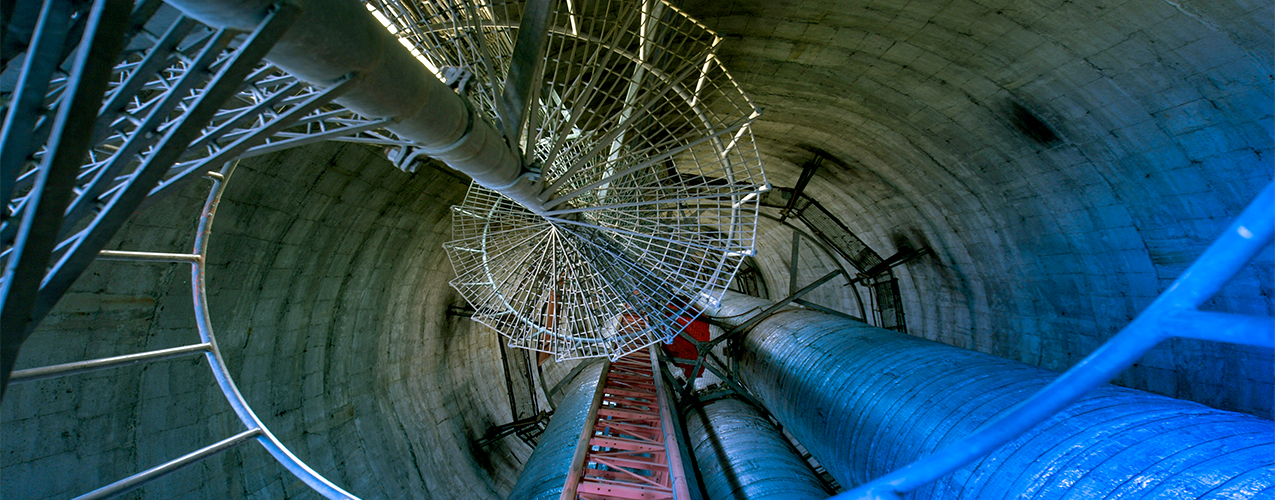 Top view of engineering piping