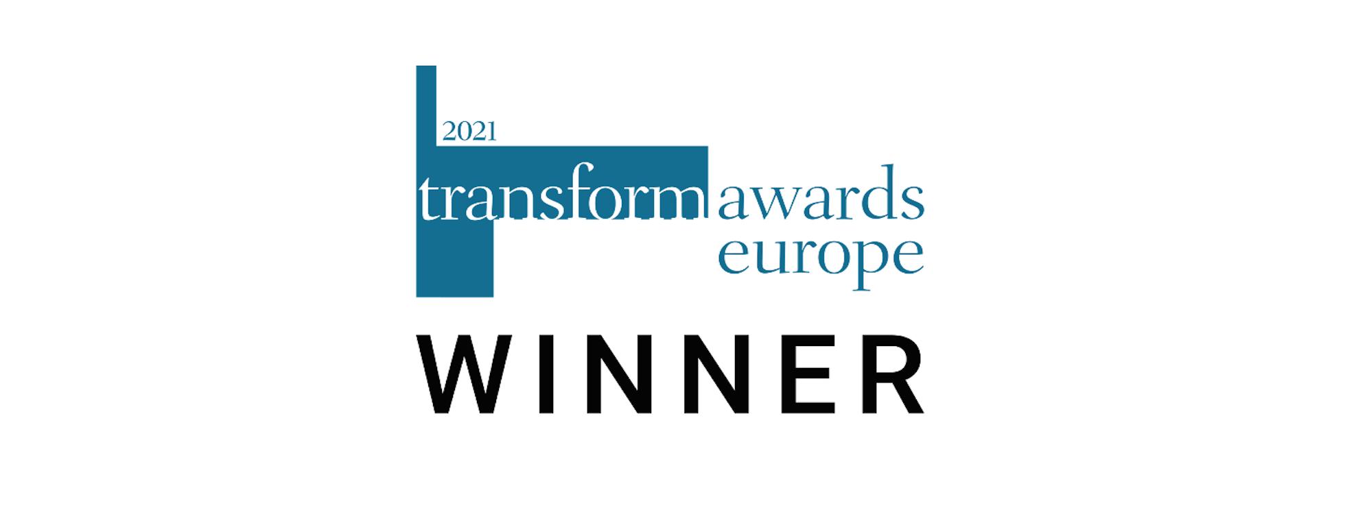 Transform Awards Europe winner